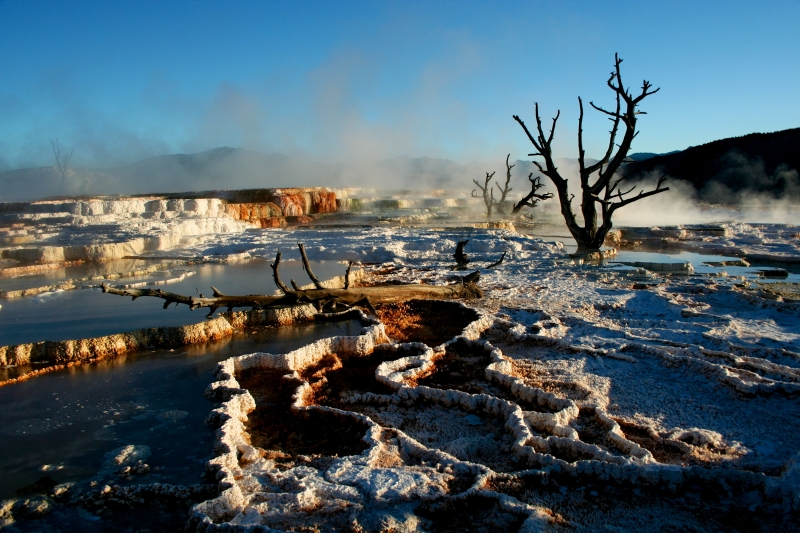 Sunrise @ Upper Terraces, Mammoth Hot Springs, Yellowstone National Park