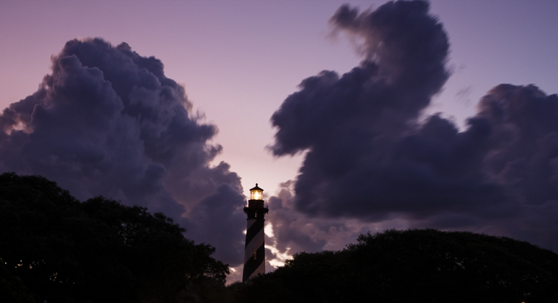 St Augustine Lighthouse At Dusk
