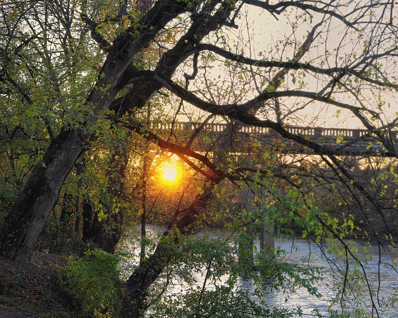 Yadkin River Sunset