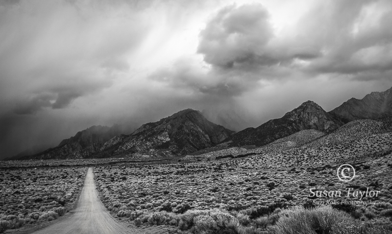 Stormy Dirt  Road In The Eastern Sierra
