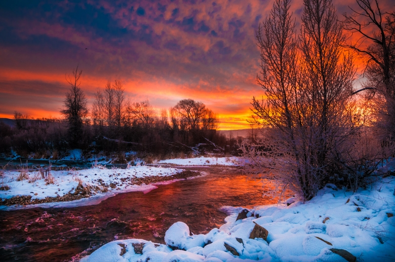 Provo River Sunrise