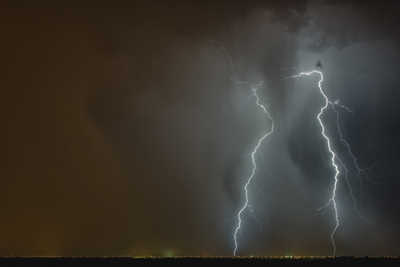 Dust Storm And Lightning