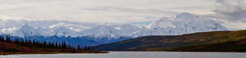 Mt. Mckinley Range & Wonder Lake Panorama