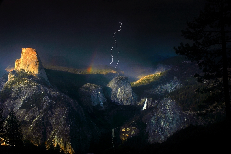 Yosemite Lightning Strike