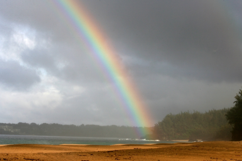 Rainbow At Lumahai