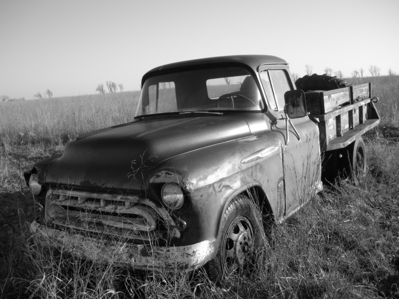 Old Chevy Truck In The Field