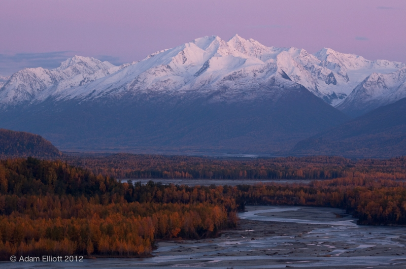 Fall Evening On The Matanuksa River