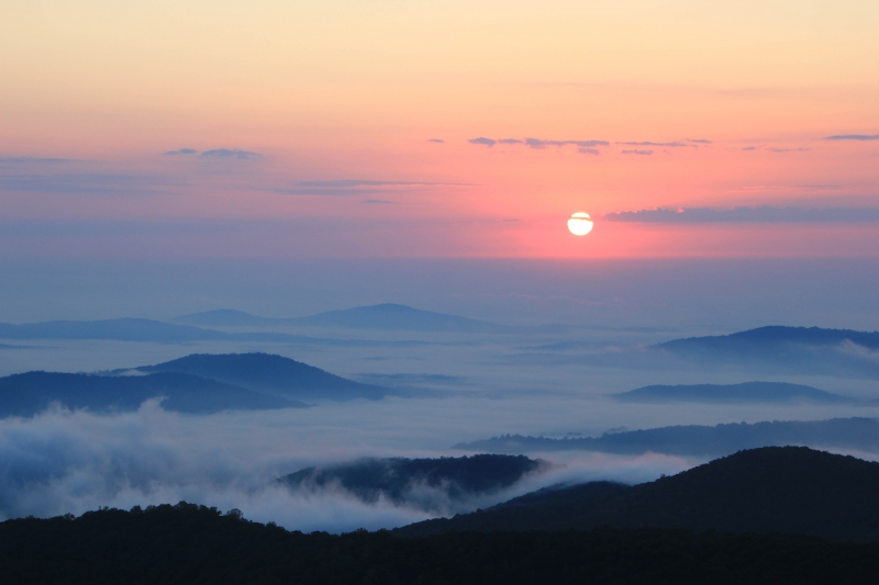 Sunrise Over The Shenandoah Valley