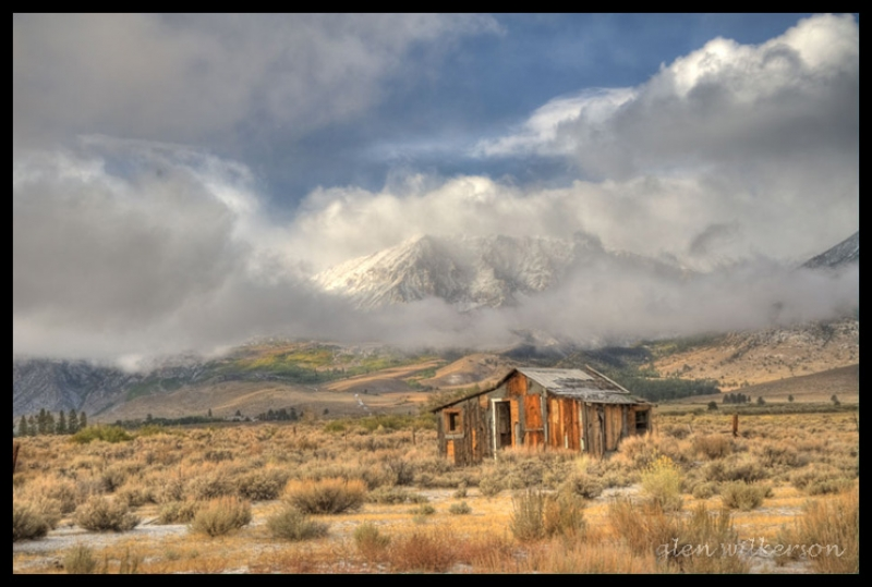 Clearing Storm And Old Homestead