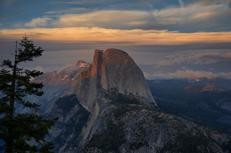 Half Dome From Glacier Point Sunset
