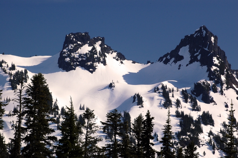 Peaks In Tatoosh Range At Paradise Lodge