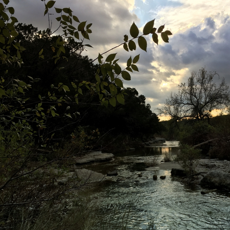 Cloudy Day Sunset At Bull Creek