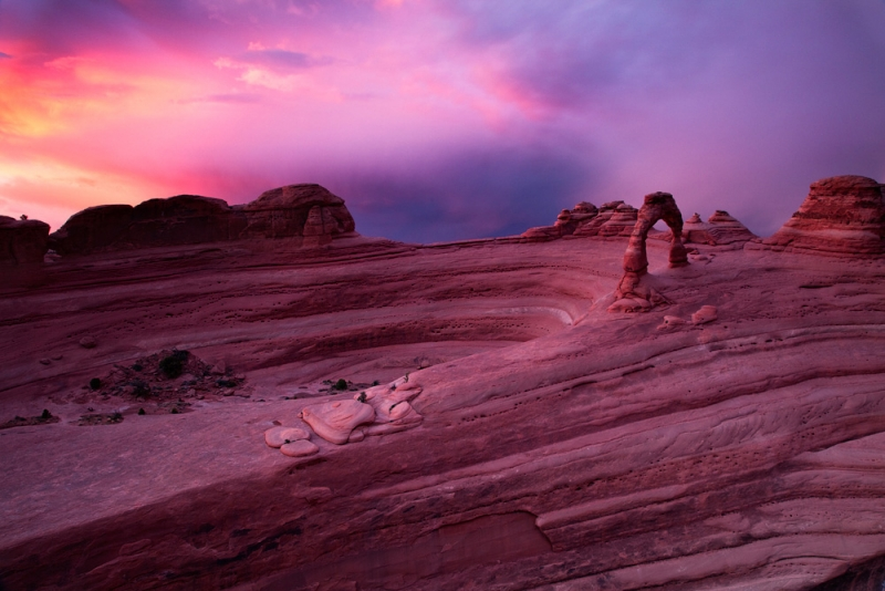 Thunderstorm Sunset, Delicate Arch, Utah
