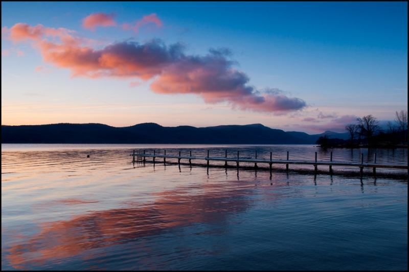Morning Cloud Band Over Lake George