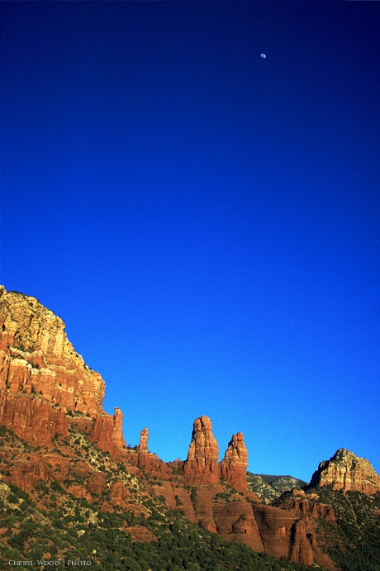 Moon Over Sedona