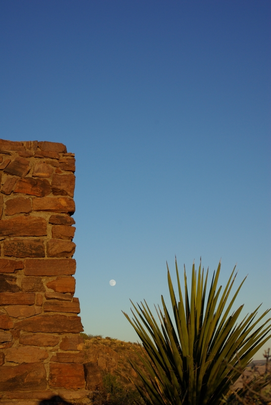 Moon Over Davis Mountains State Park