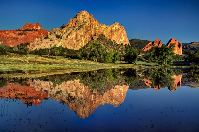 Rare Reflections In The Garden Of The Gods