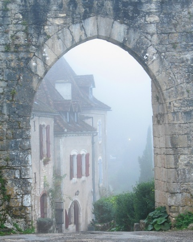 Entry To St Cirq In The Fog