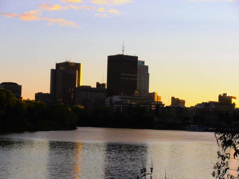 Winnipeg Skyline At Sunset