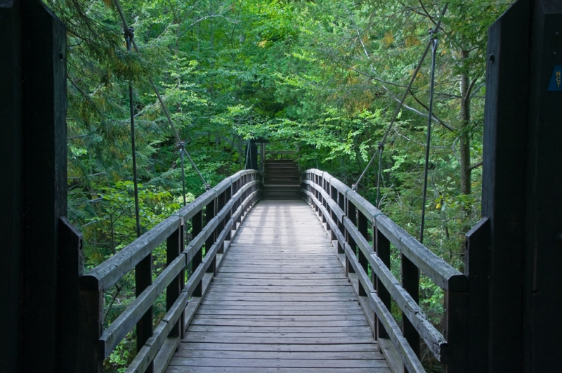 Suspension Bridge Over Presque Isle River