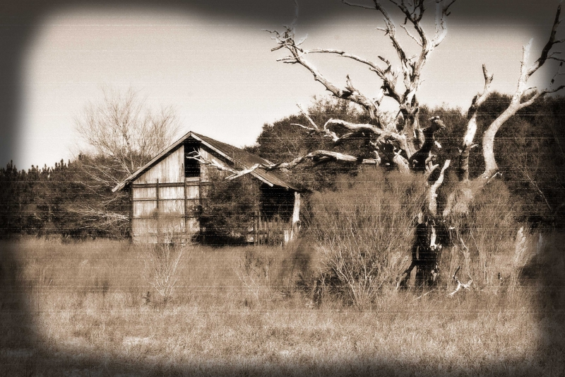Antiqued Barn Photo