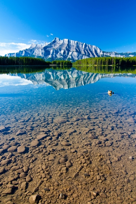 Mount Rundle And Two Jack Lake, Banff National Park, Alberta