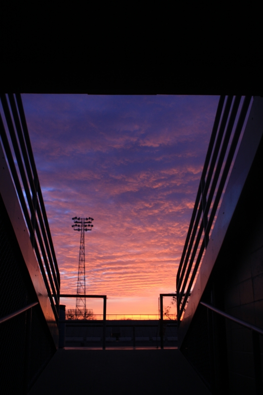 Fiery Sunrise At Charger Stadium