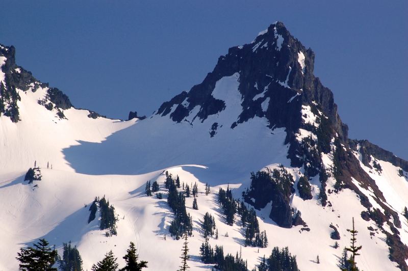 Peak In Tatoosh Range At Paradise Lodge