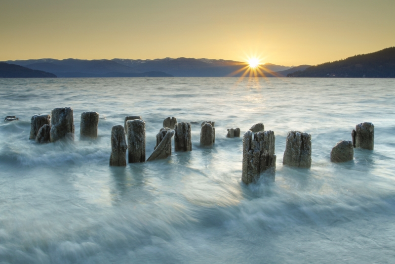 Pilings At Sunrise