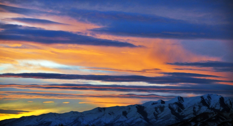 Colorful Sunset West Of Alpine Utah