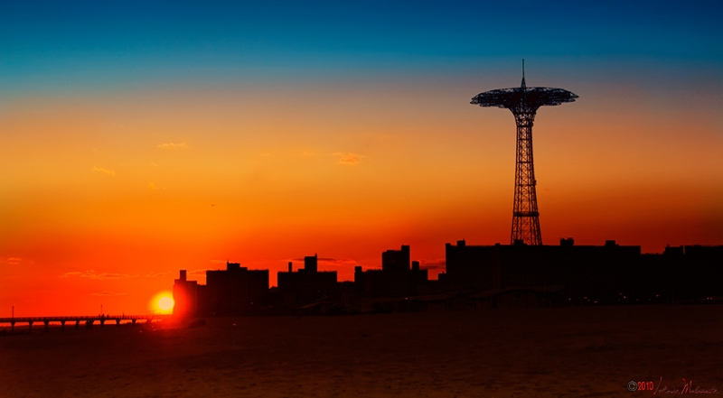 Sunset At Coney Island