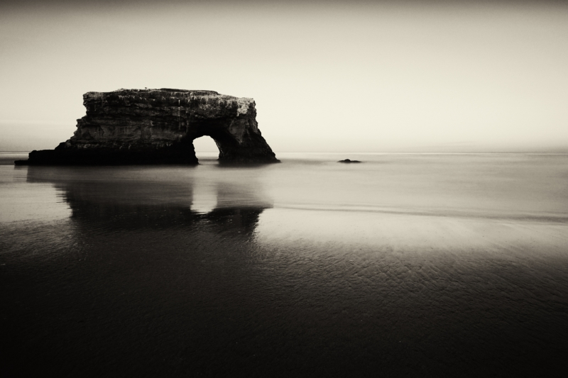 Natural Bridges In Monochrome