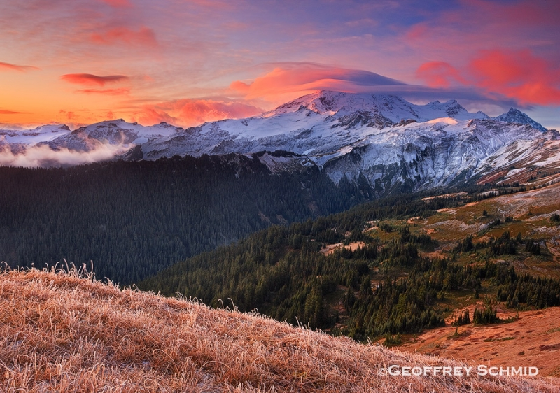 Clearing Storm At Dawn, Mount Baker From The Divide