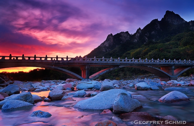 Stone Bridge At Dawn, Mount Seorak National Park