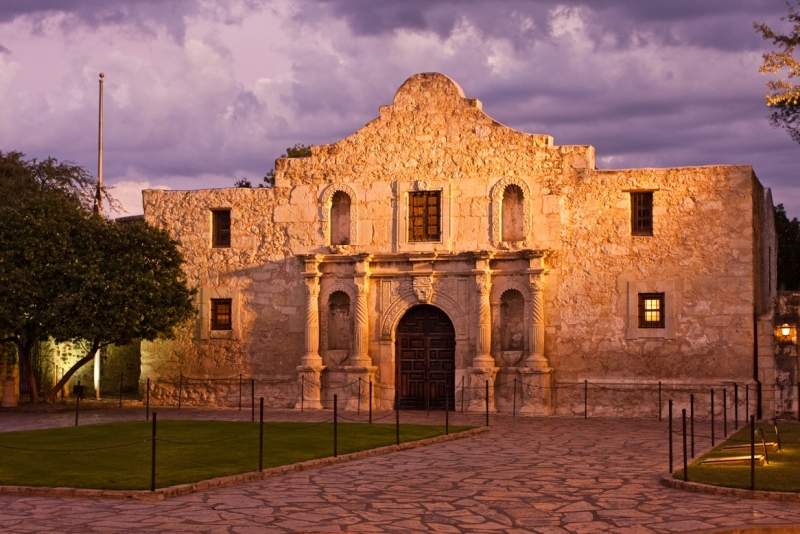 Stormy Light At The Alamo