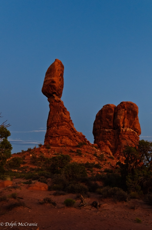 Balanced Rock At Dusk