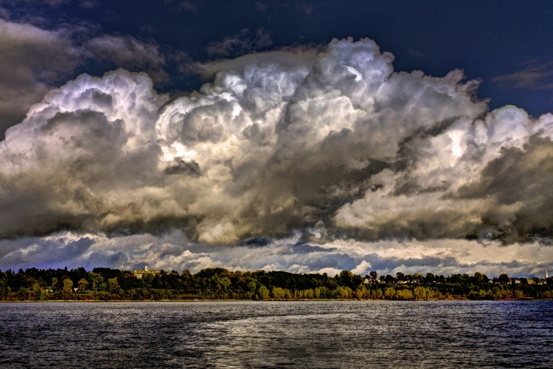 Approaching Nor'easter Storm Lake Champlain