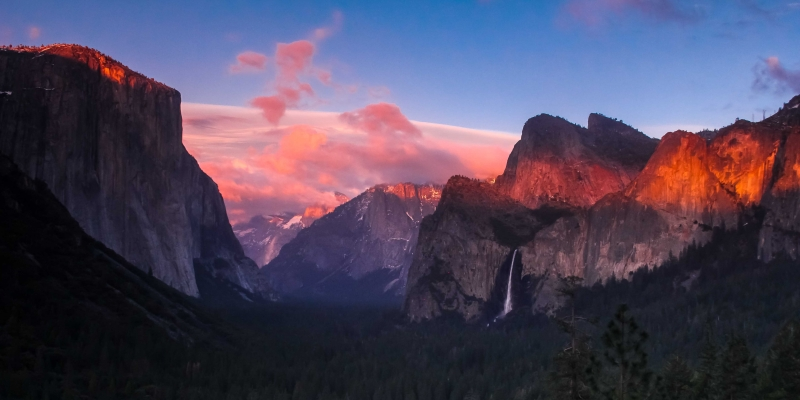 Yosemite Sunset In March.