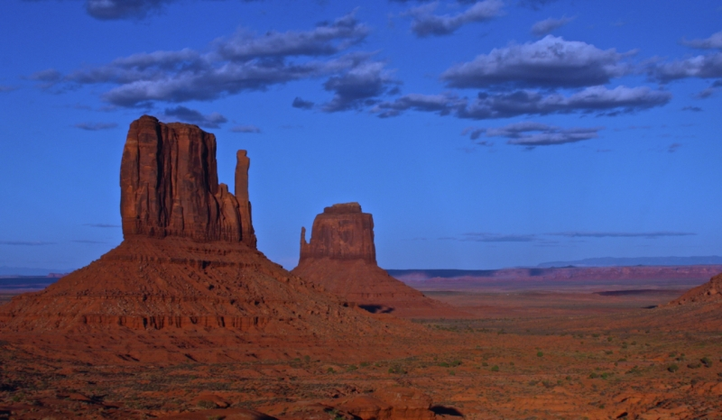 Eastern View Of Mitten Butte