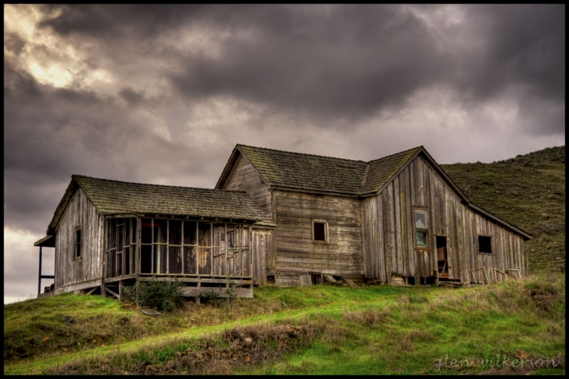 Storm Clouds Over Abandoned Farm House