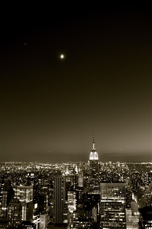 New York City Moon (top Of The Rock)