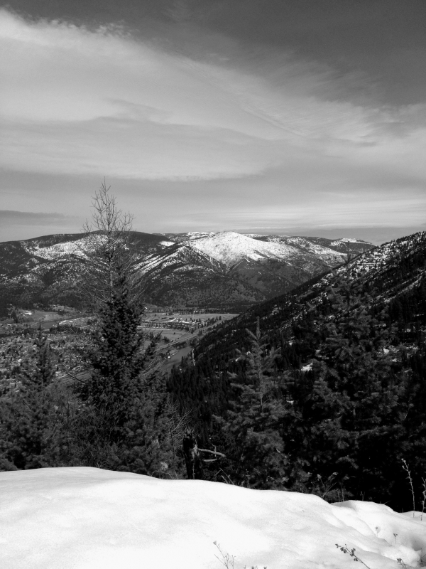 View From Mount Sentinel In Winter