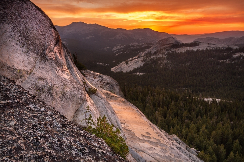 High Sierra Sunset From Fairview Dome