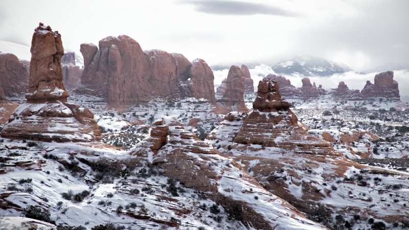 Arches Snowscape