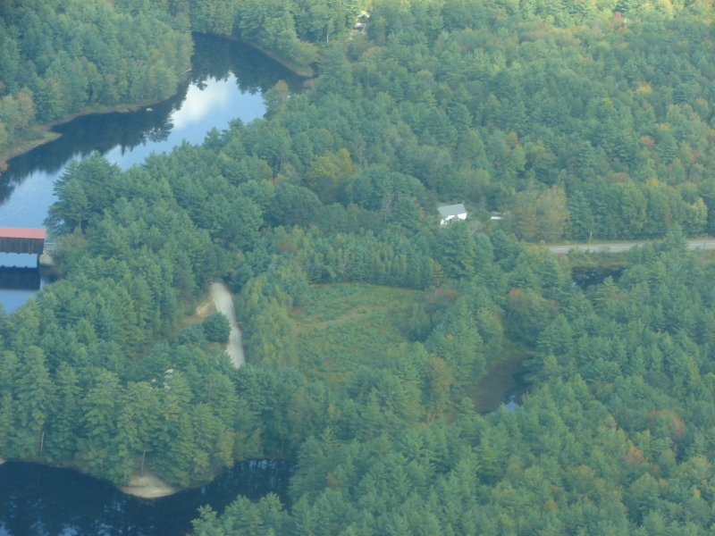 Covered Bridge From Air