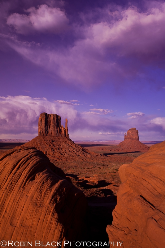 Dramatic Skies Over Monument Valley