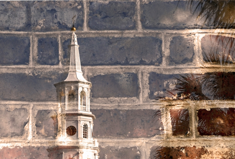 Charleston South Carolina Double Exposure