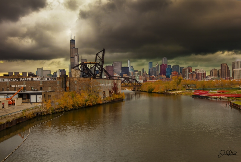 Fall Storm Over Chicago..