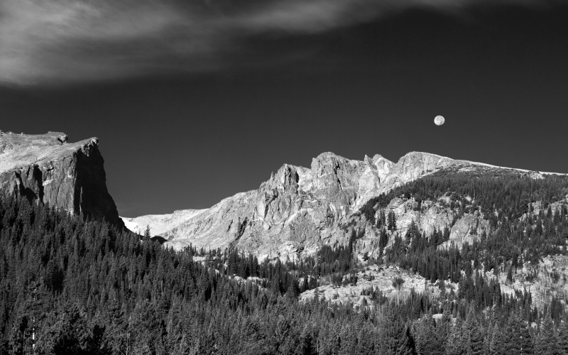 Moonrise Over Flattop Mountain