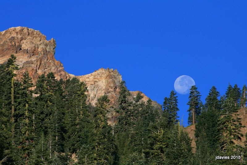 Summer Moonset
